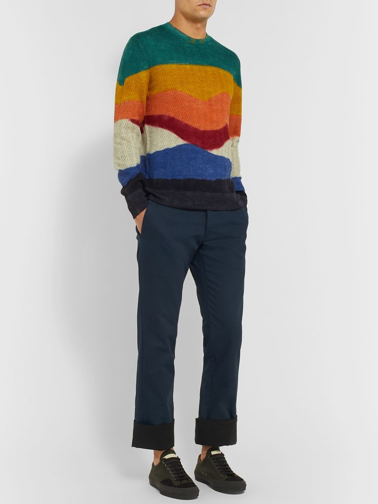 Missoni Slim-Fit Colour-Block Alpaca Sweater