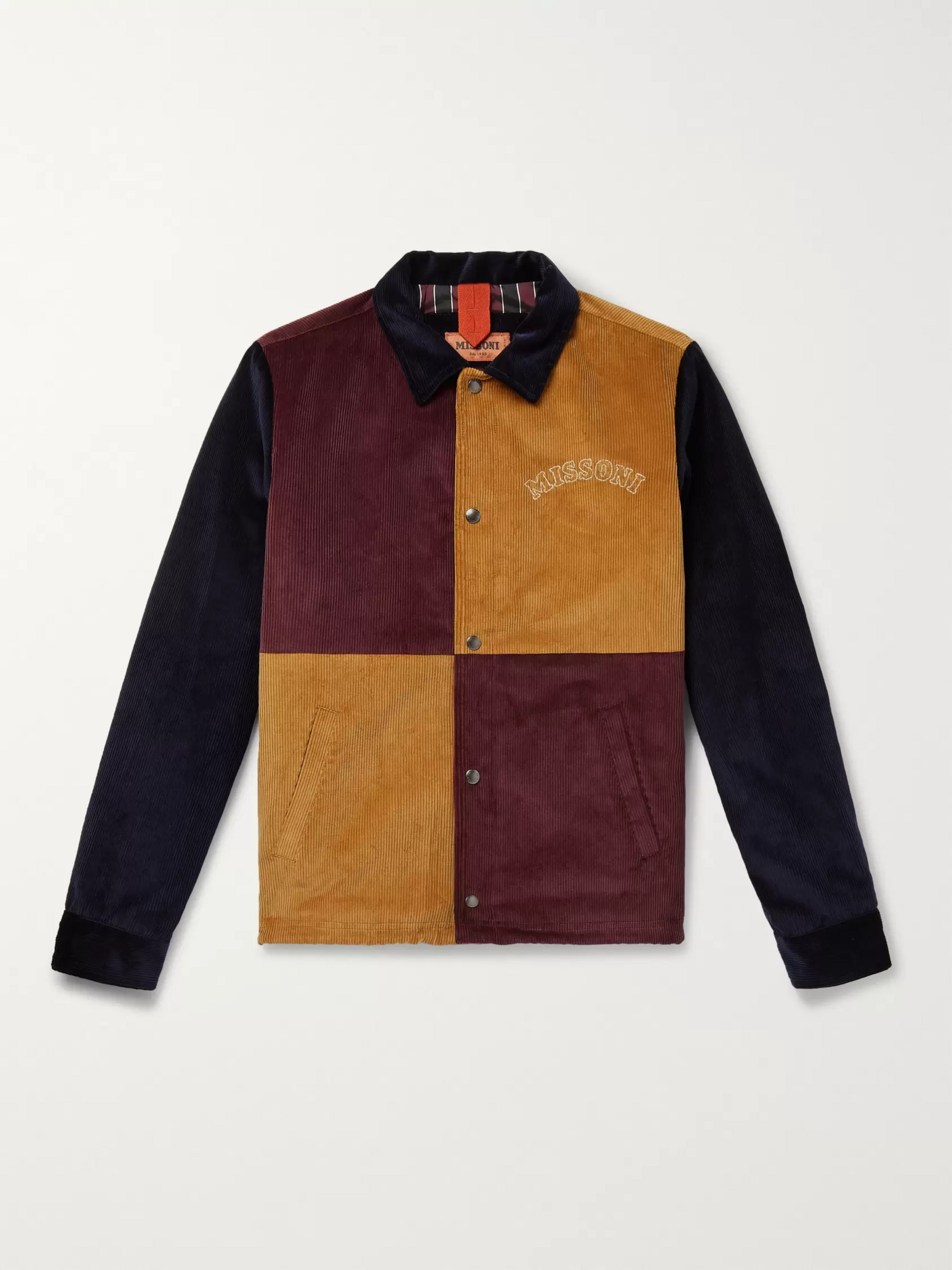 Missoni Colour-Block Cotton-Corduroy Blouson Jacket