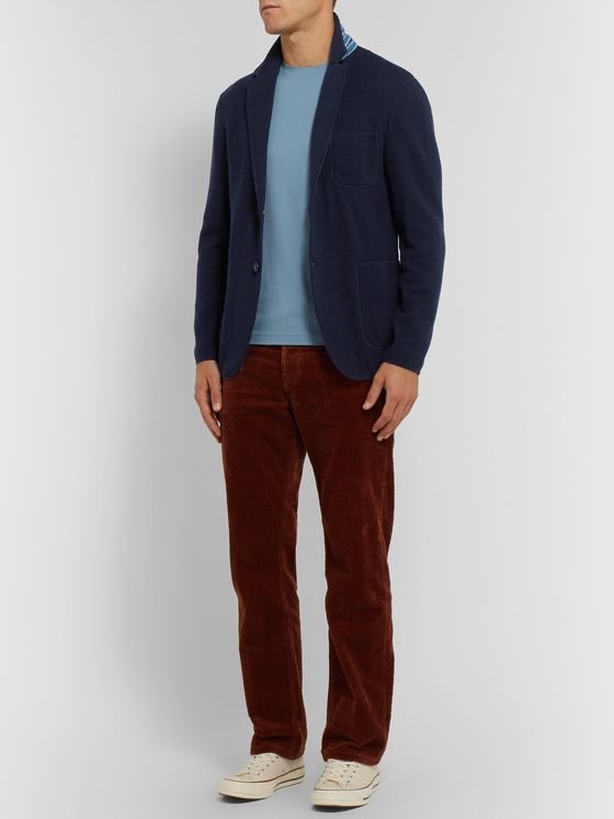 Missoni Navy Slim-Fit Wool-Blend Blazer