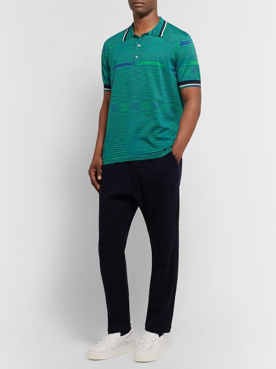 Missoni Space-Dyed Knitted Cotton Polo Shirt