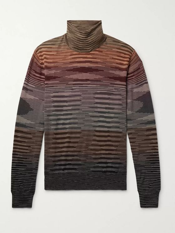 Missoni Space-Dyed Wool Rollneck Sweater