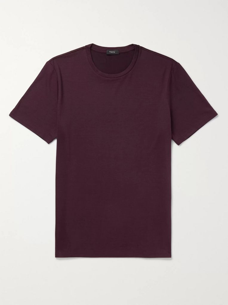 Theory Clean Slim-Fit Silk and Cotton-Blend Jersey T-Shirt