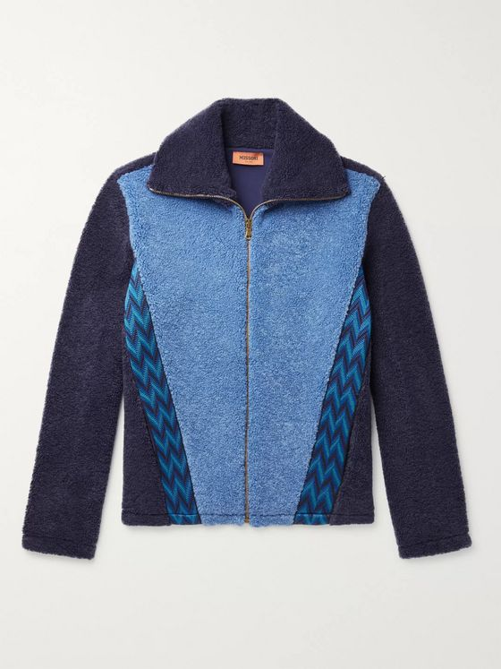 Missoni Embroidered Colour-Block Fleece Jacket