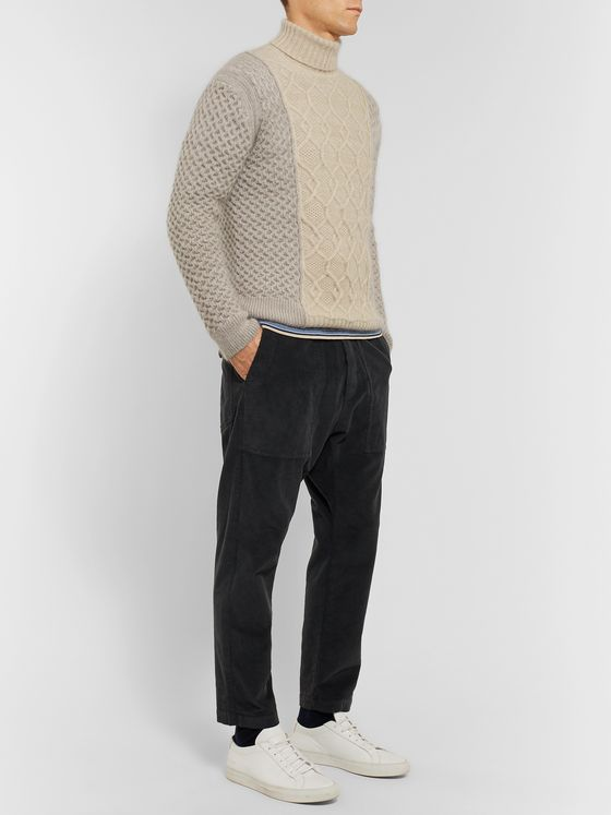Missoni Slim-Fit Colour-Block Wool-Blend Rollneck Sweater
