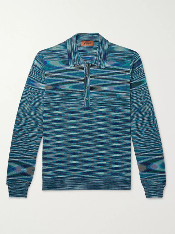 Missoni Space-Dyed Wool-Blend Polo Shirt