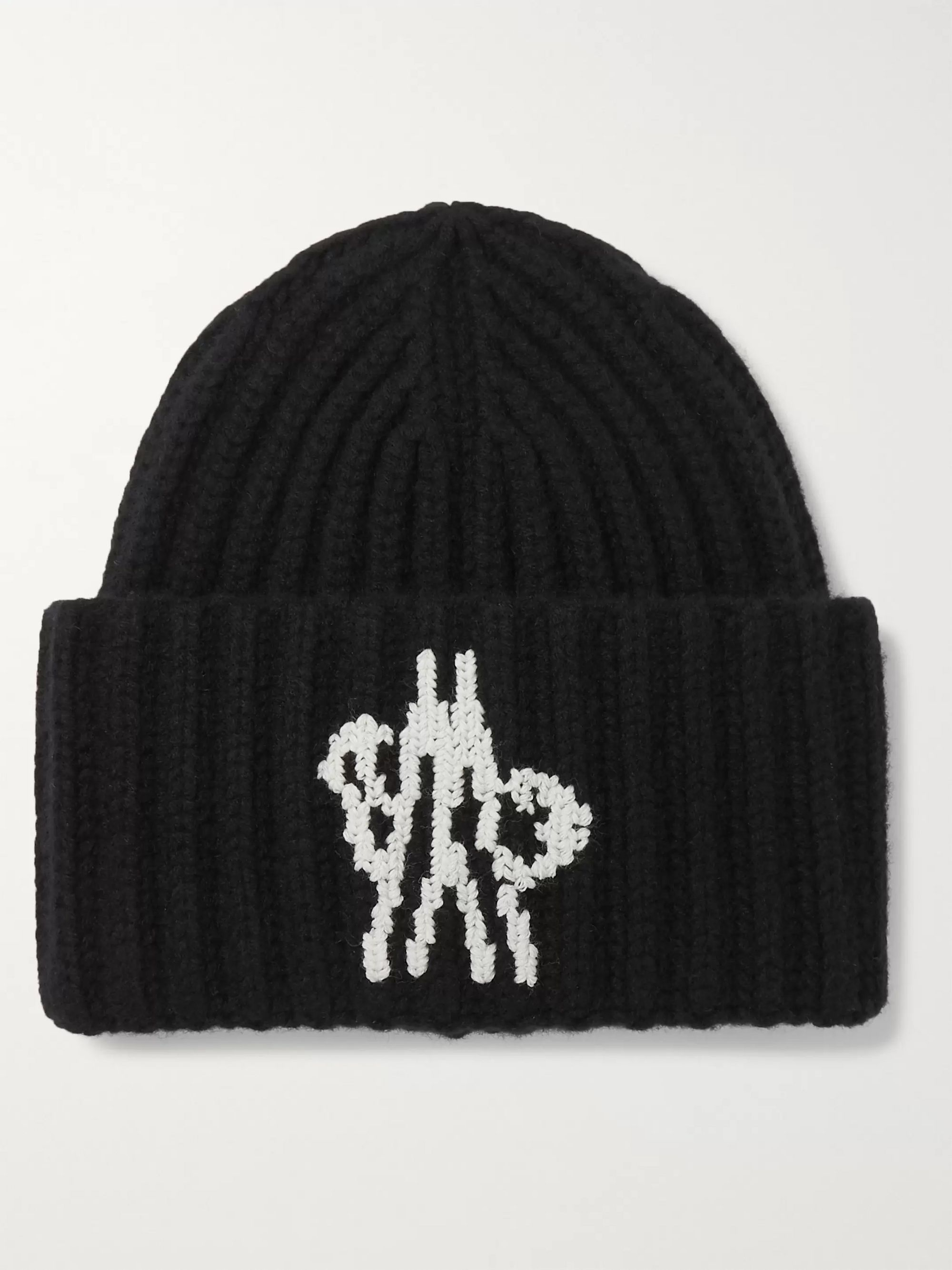 intarsia-ribbed-wool-beanie by moncler-genius
