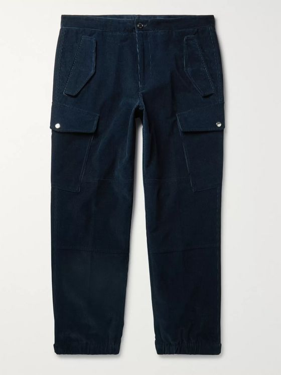 Moncler Genius 2 Moncler 1952 Tapered Cotton-Corduroy Cargo Trousers