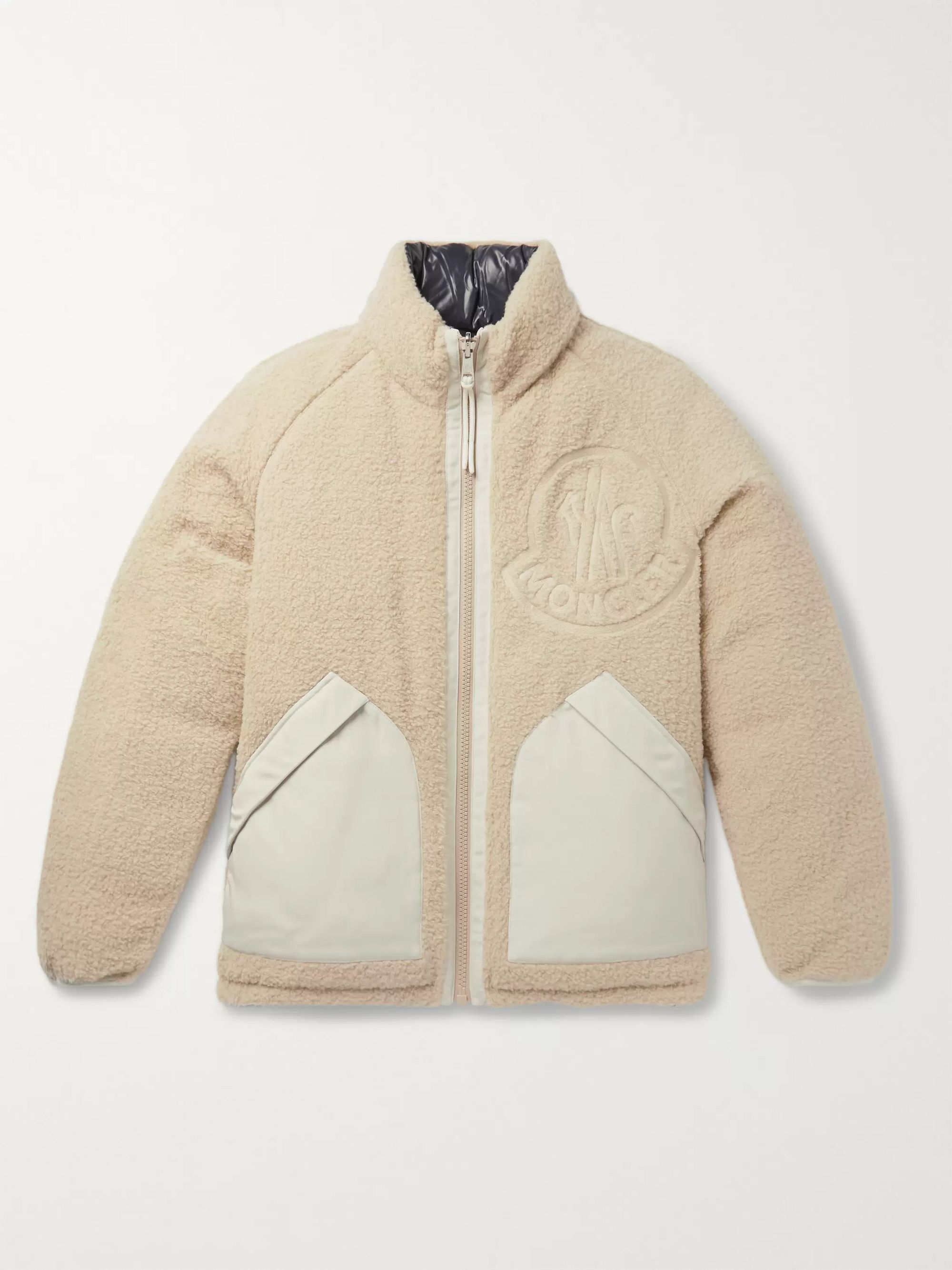 Moncler Genius 2 Moncler 1952 Reversible Fleece and Quilted Shell Down Jacket