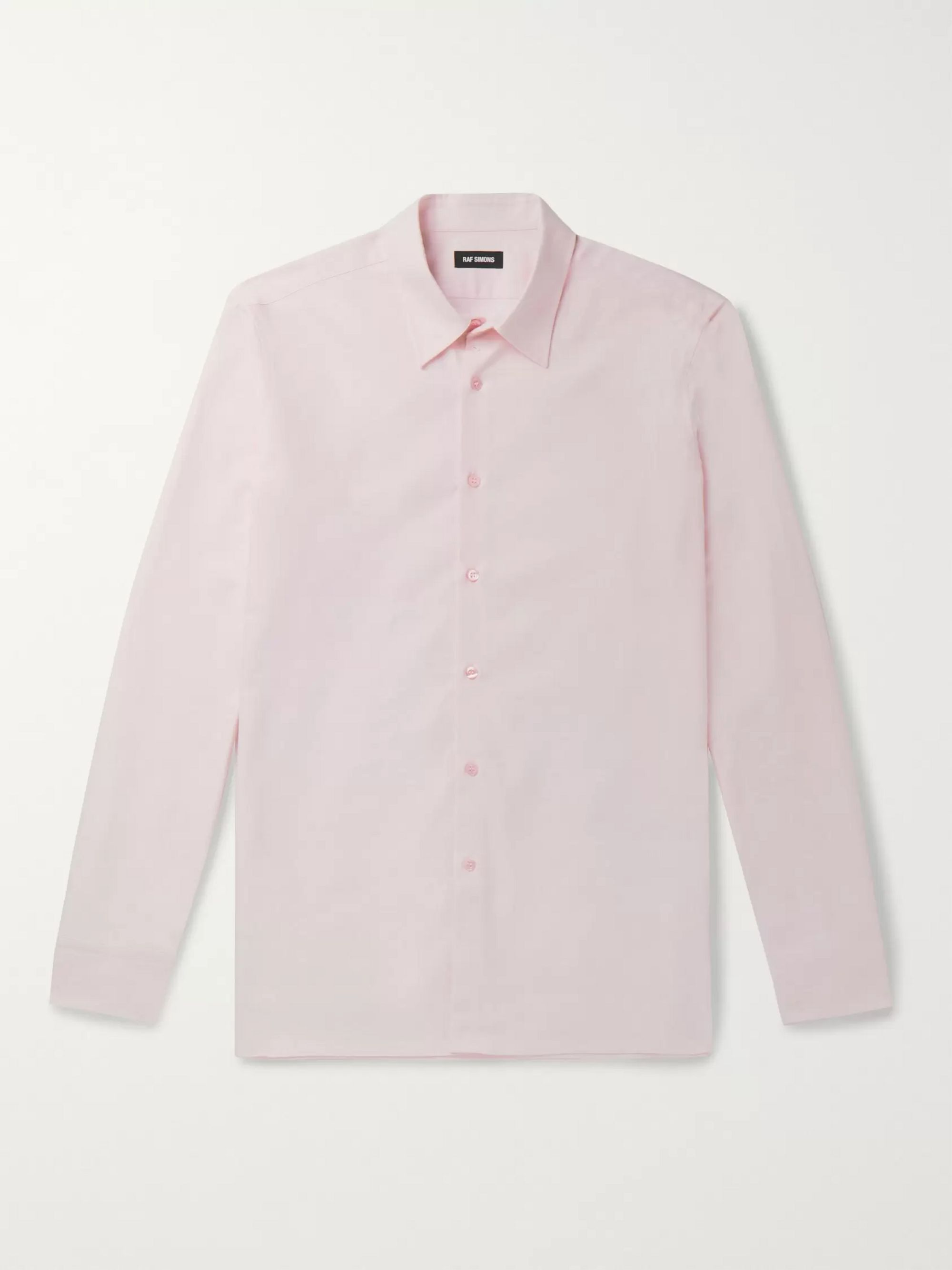 Raf Simons Slim-Fit Logo-Embroidered Cotton Oxford Shirt