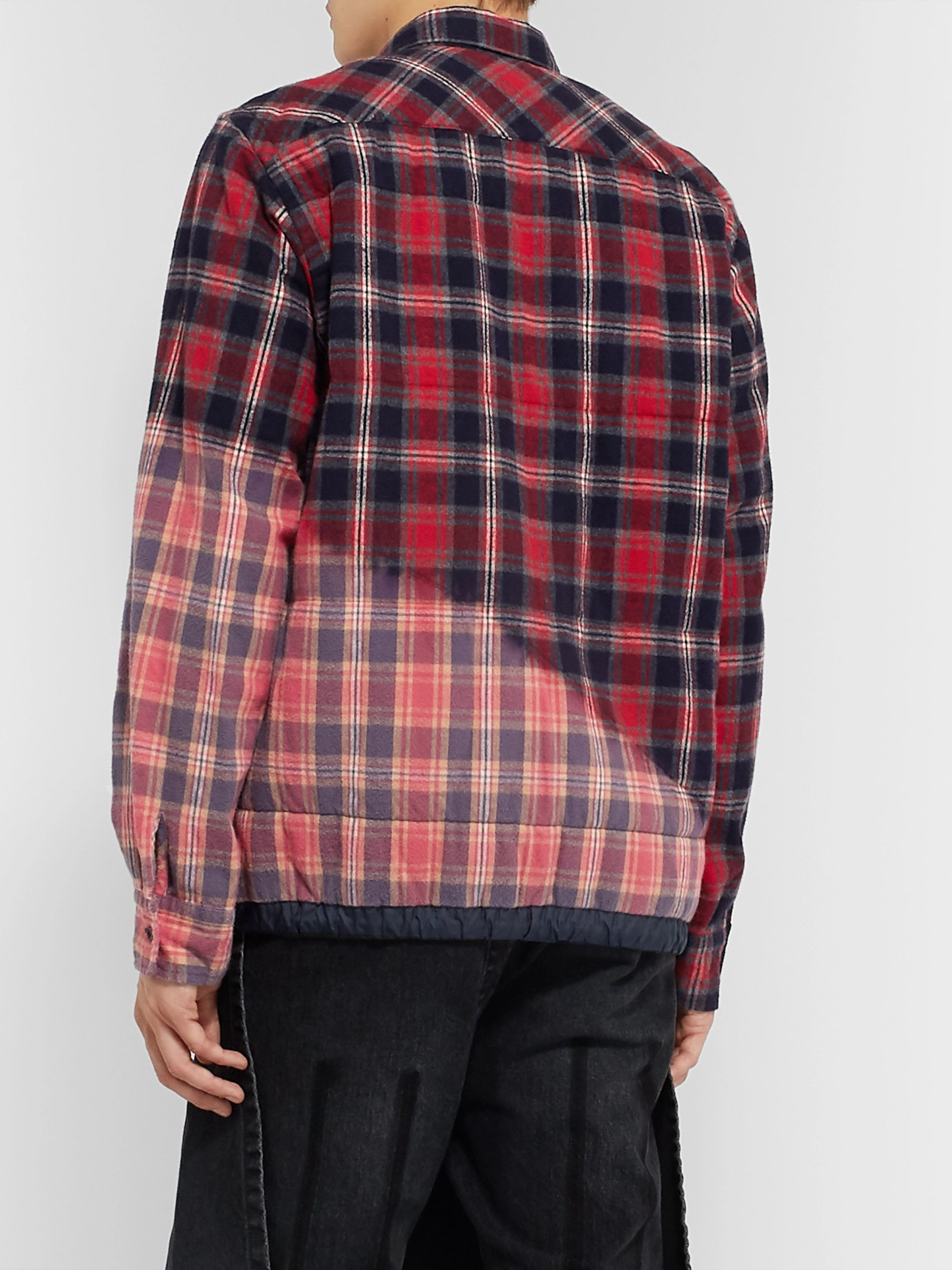 Sacai Checked Cotton-Flannel Overshirt