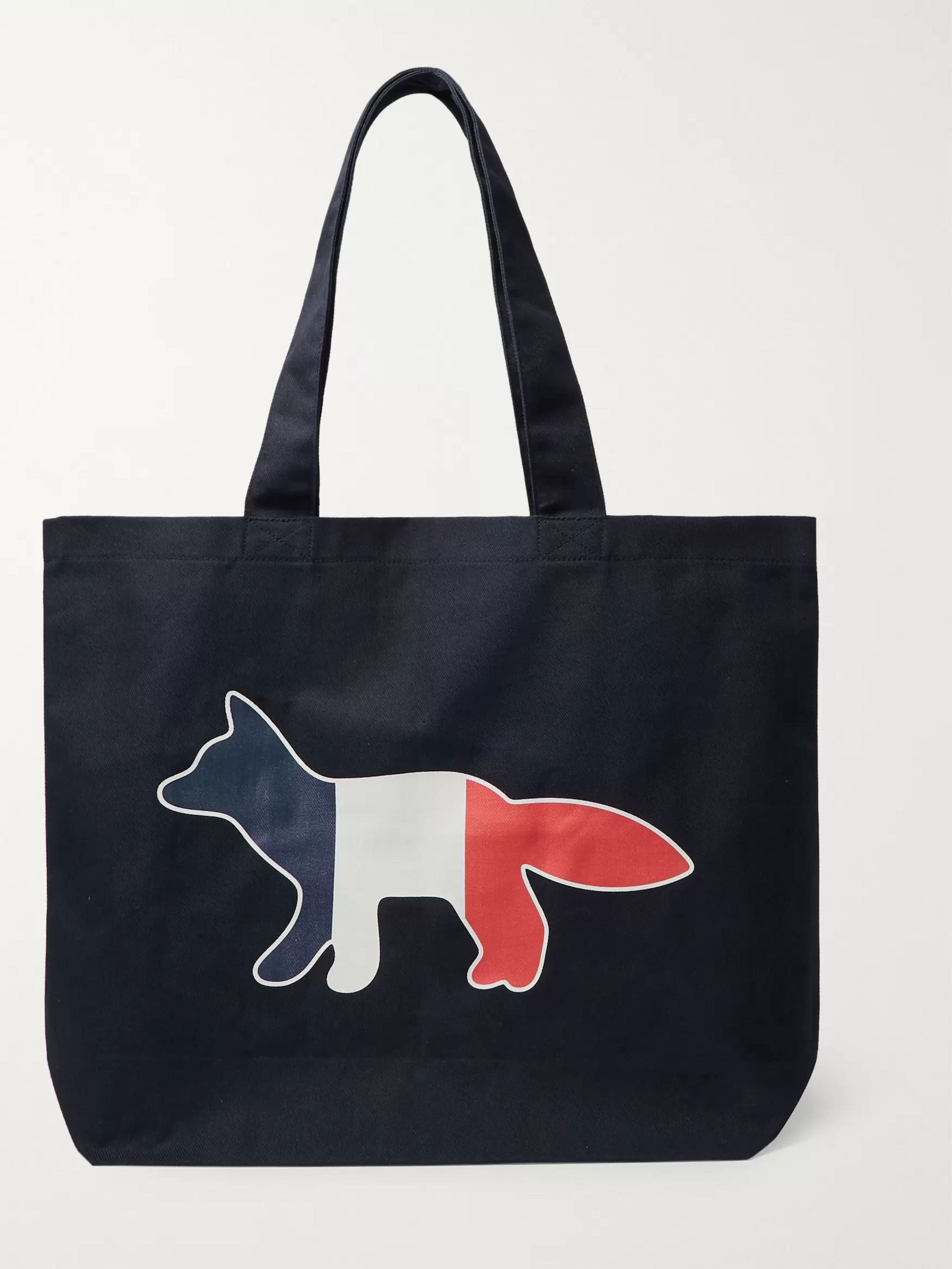 price reduced new product los angeles Logo-Print Cotton-Blend Twill Tote Bag