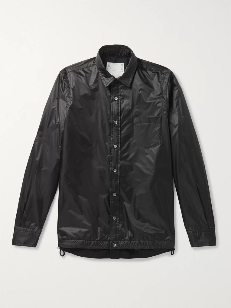 Sacai Layered Nylon Shirt Jacket