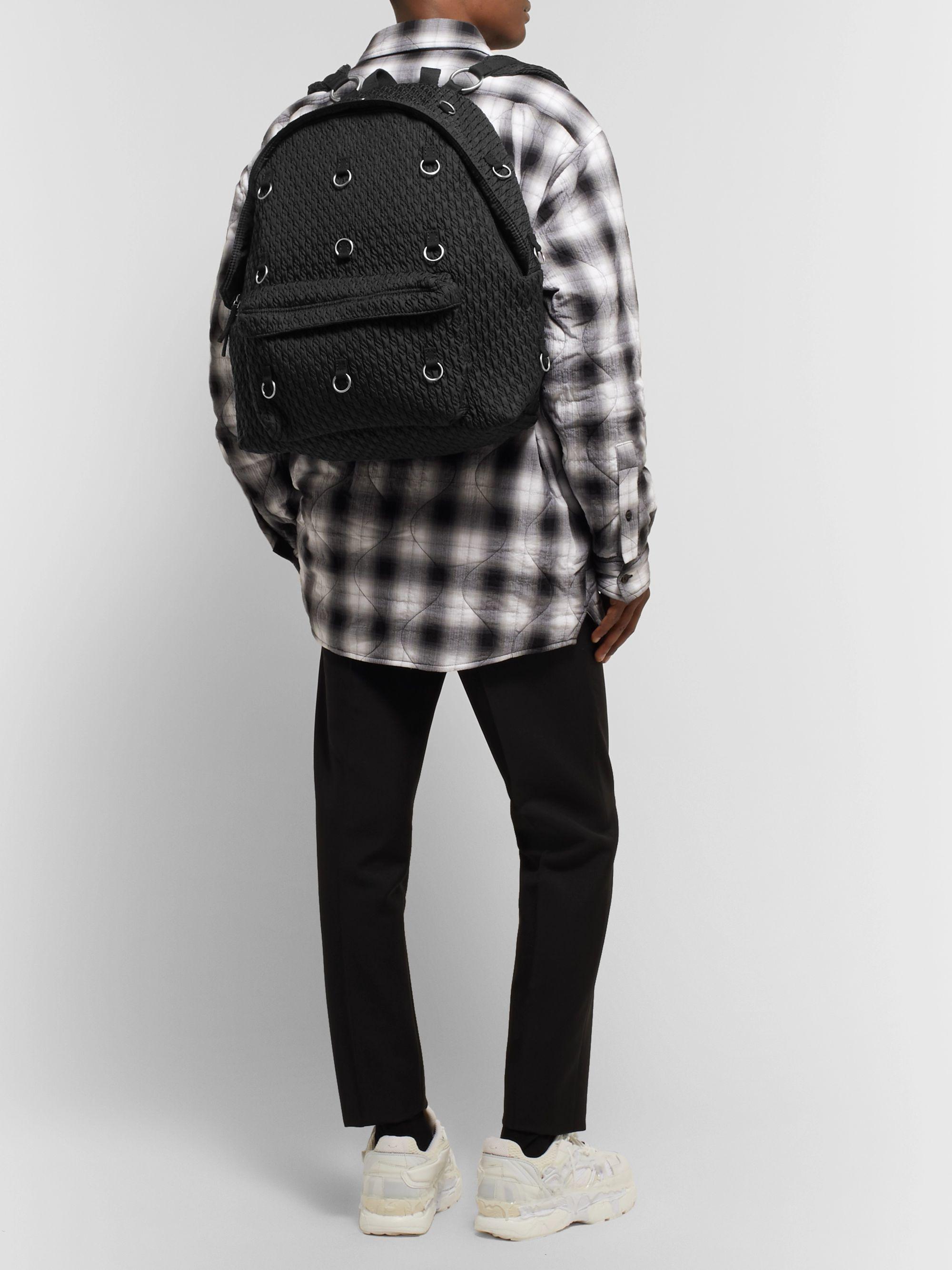 Eastpak Padded Pak'r Bag in Black and Grey Eastpak Padded