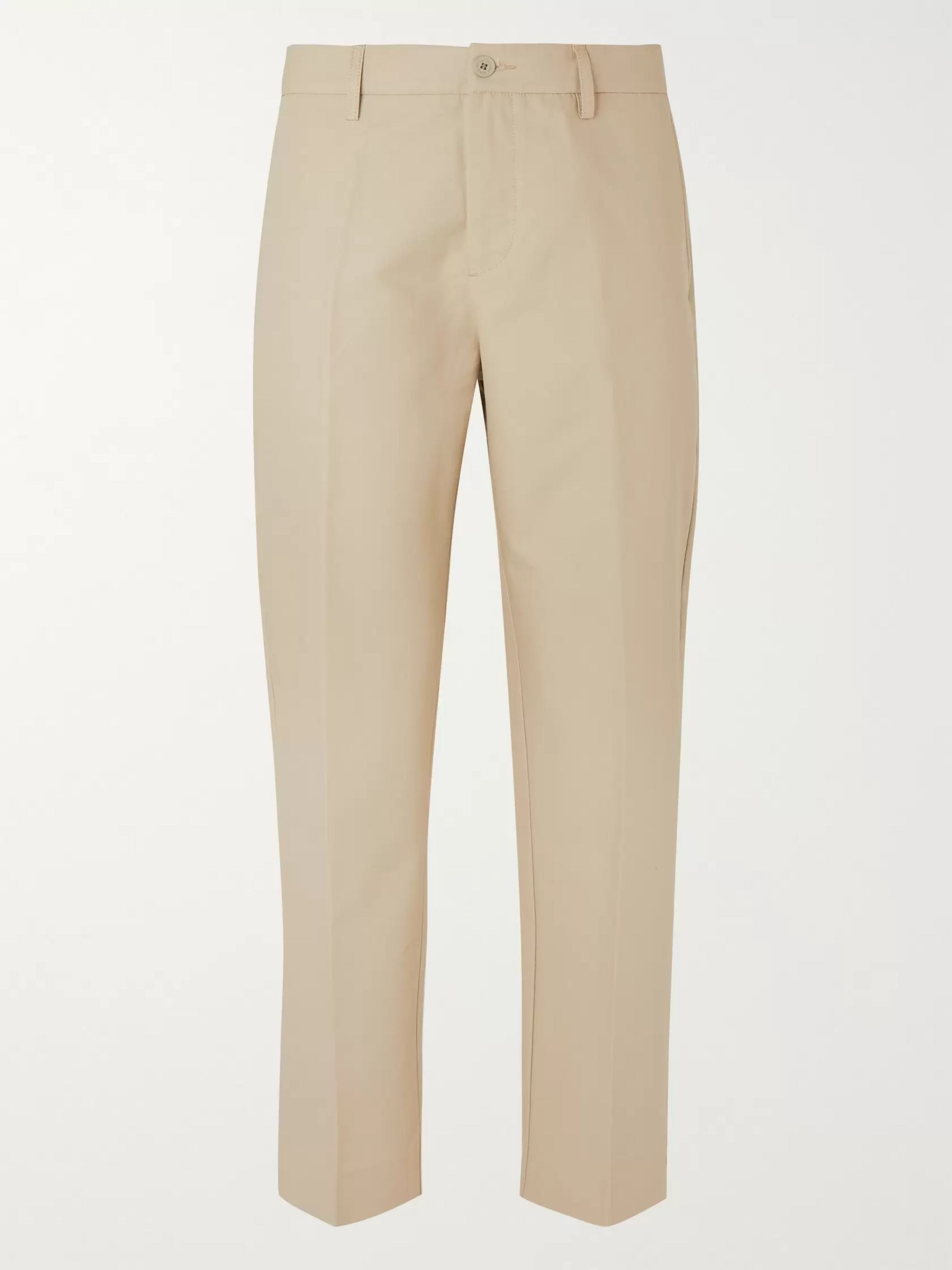 tapered-cotton-trousers by maison-kitsuné