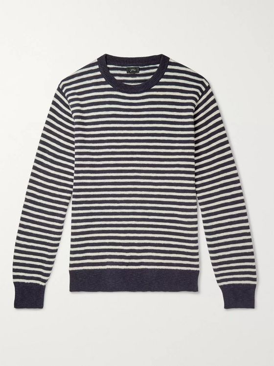 J.Crew Striped Slub Cotton Sweater