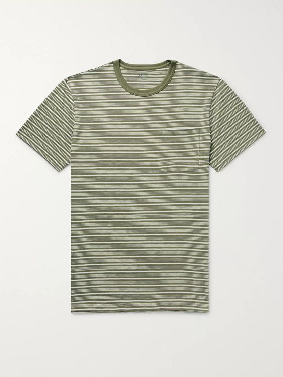 J.Crew Slim-Fit Striped Cotton-Jersey T-Shirt