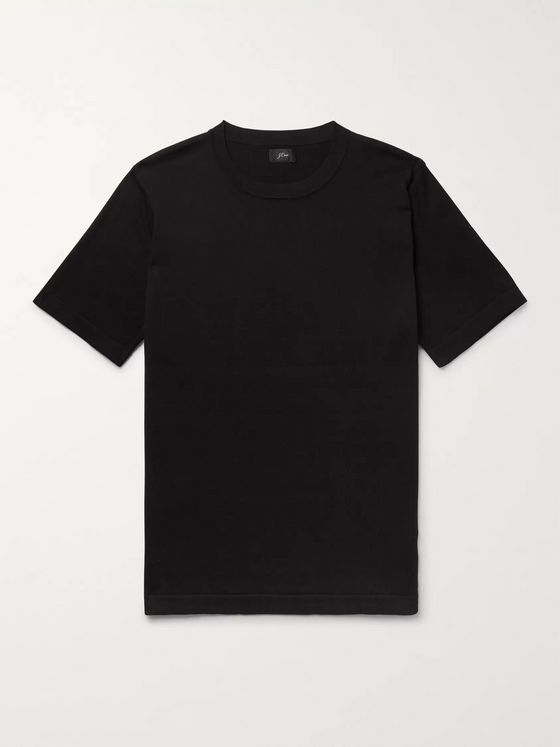 J.Crew Pima Cotton and Silk-Blend T-Shirt