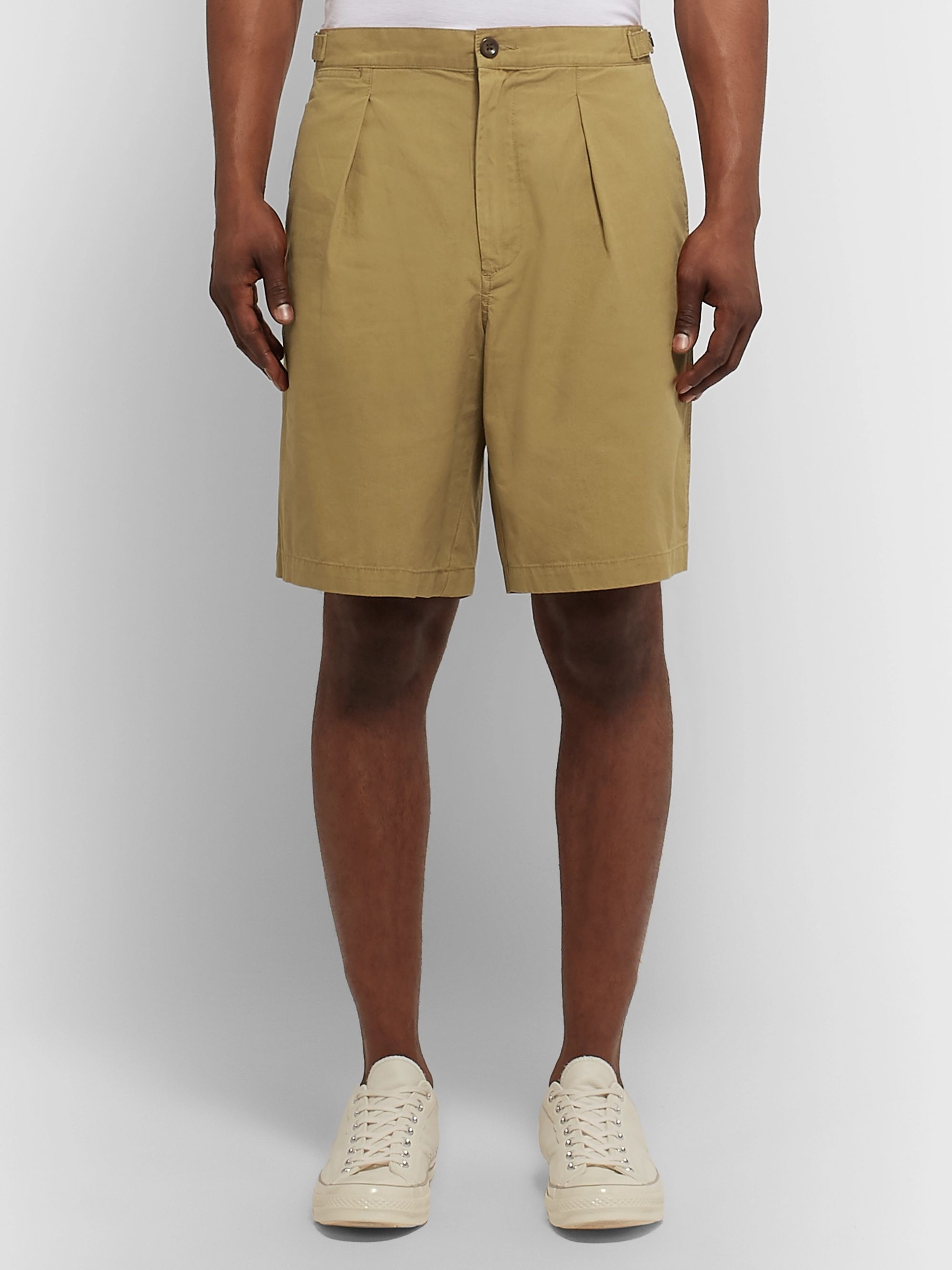 J.Crew Wallace & Barnes Pleated Cotton Shorts
