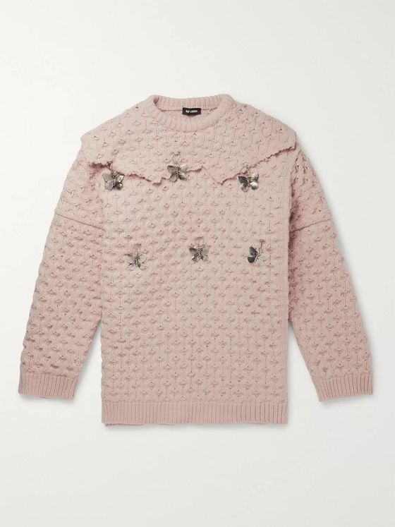 Raf Simons Embellished Virgin Wool Sweater