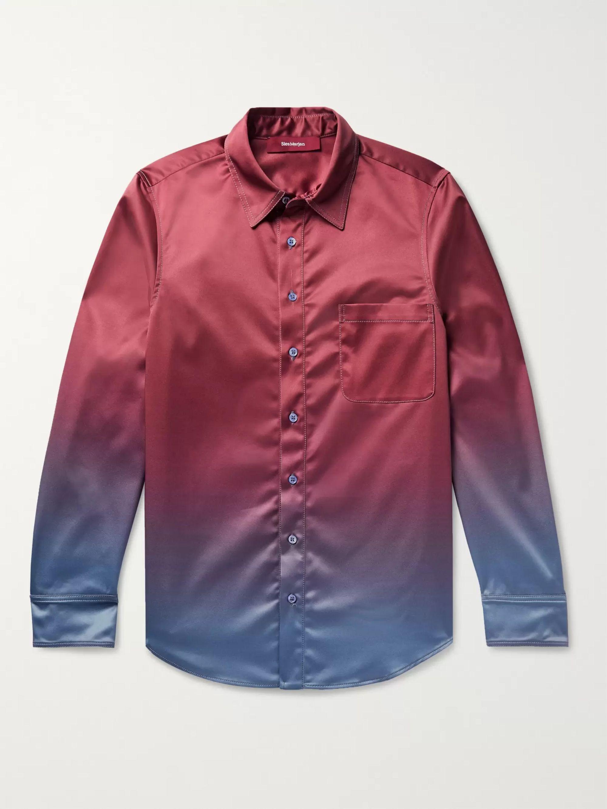 Sander Dégradé Satin Twill Shirt by Sies Marjan