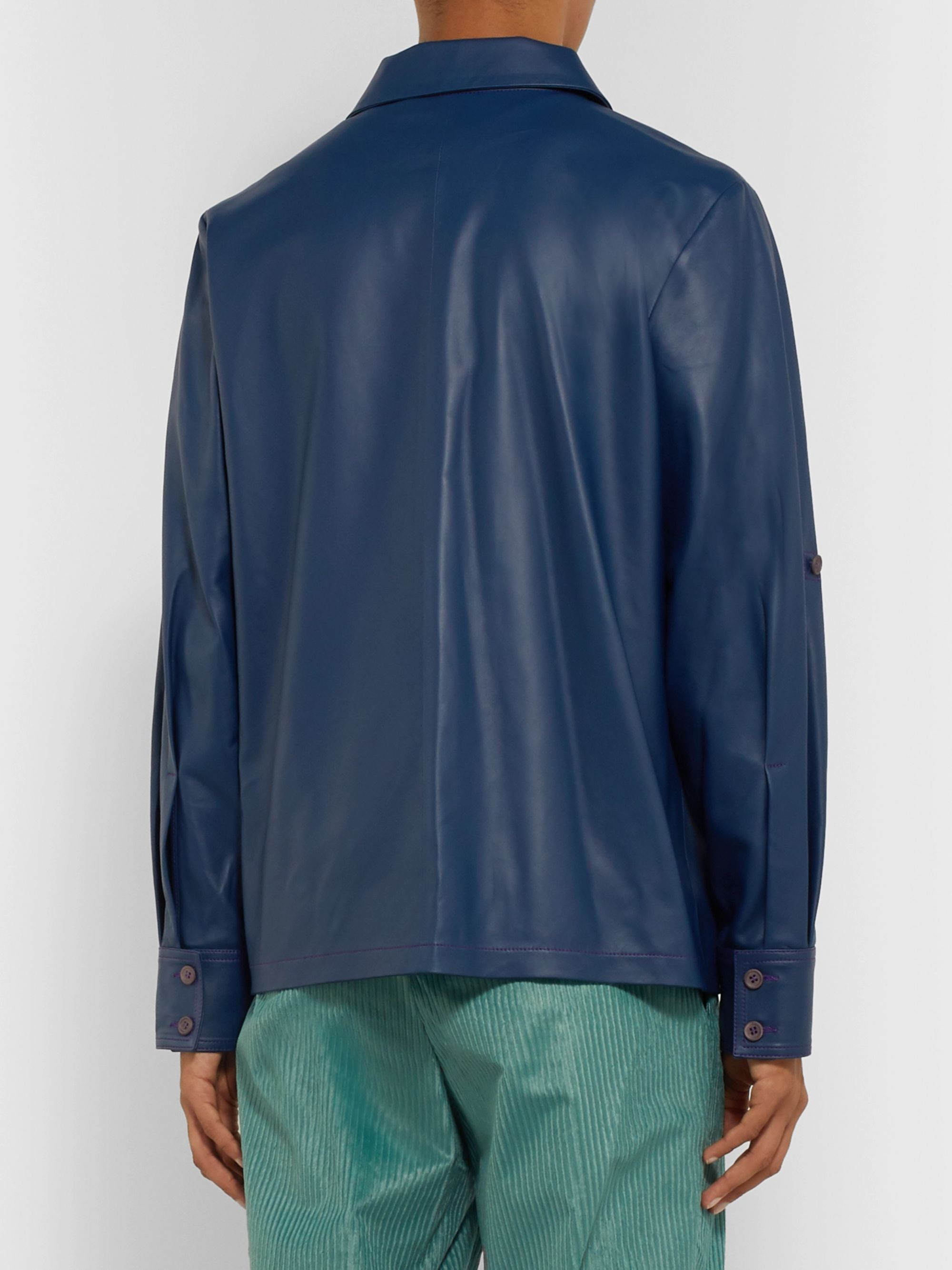 Sies Marjan Oliver Leather Shirt Jacket