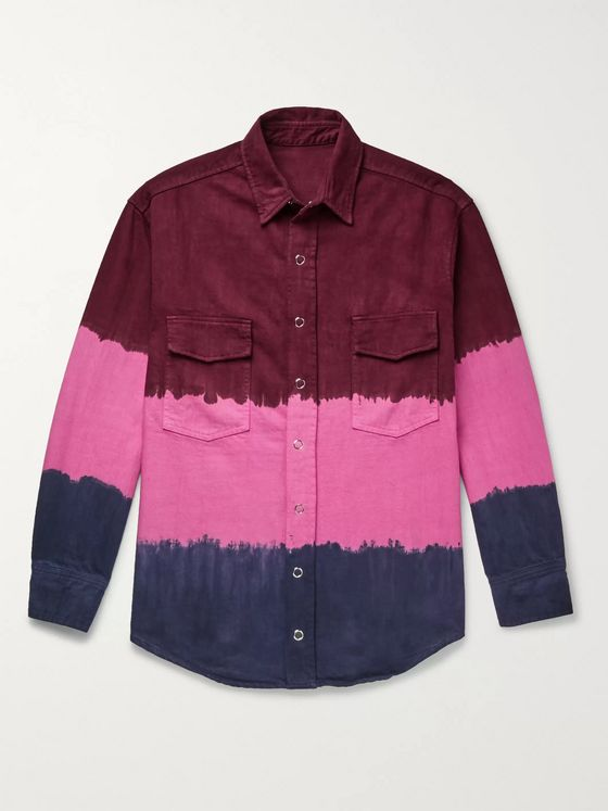 The Elder Statesman Tie-Dyed Denim Overshirt