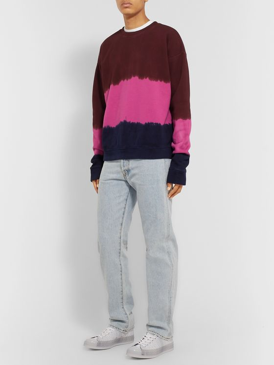 The Elder Statesman Tie-Dyed Fleece-Back Cotton-Jersey Sweatshirt