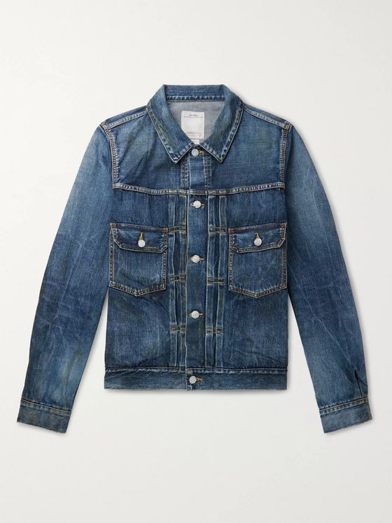 visvim Social Sculpture 1000 Dry Damaged Denim Jacket