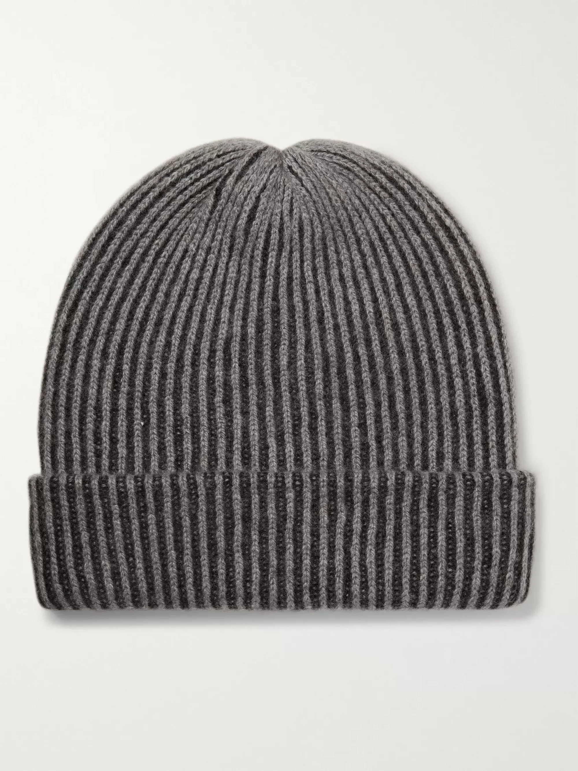 54aca69dee9656 The Elder Statesman Watchman 2 Striped Ribbed Cashmere Beanie