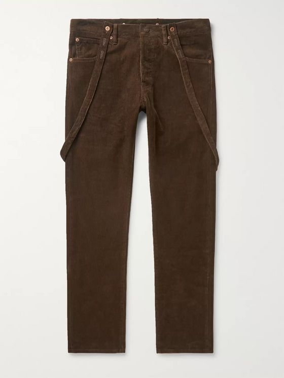 visvim Fluxus Traveller Slim-Fit Cotton-Corduroy Trousers