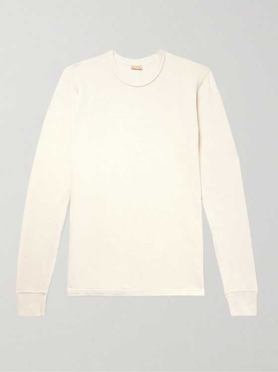 visvim Slim-Fit Knitted Cotton T-Shirt