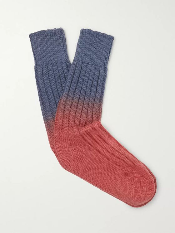 The Elder Statesman Yosemite Dip-Dyed Cashmere Socks