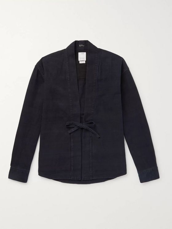 visvim Lhamo Brushed-Cotton Overshirt