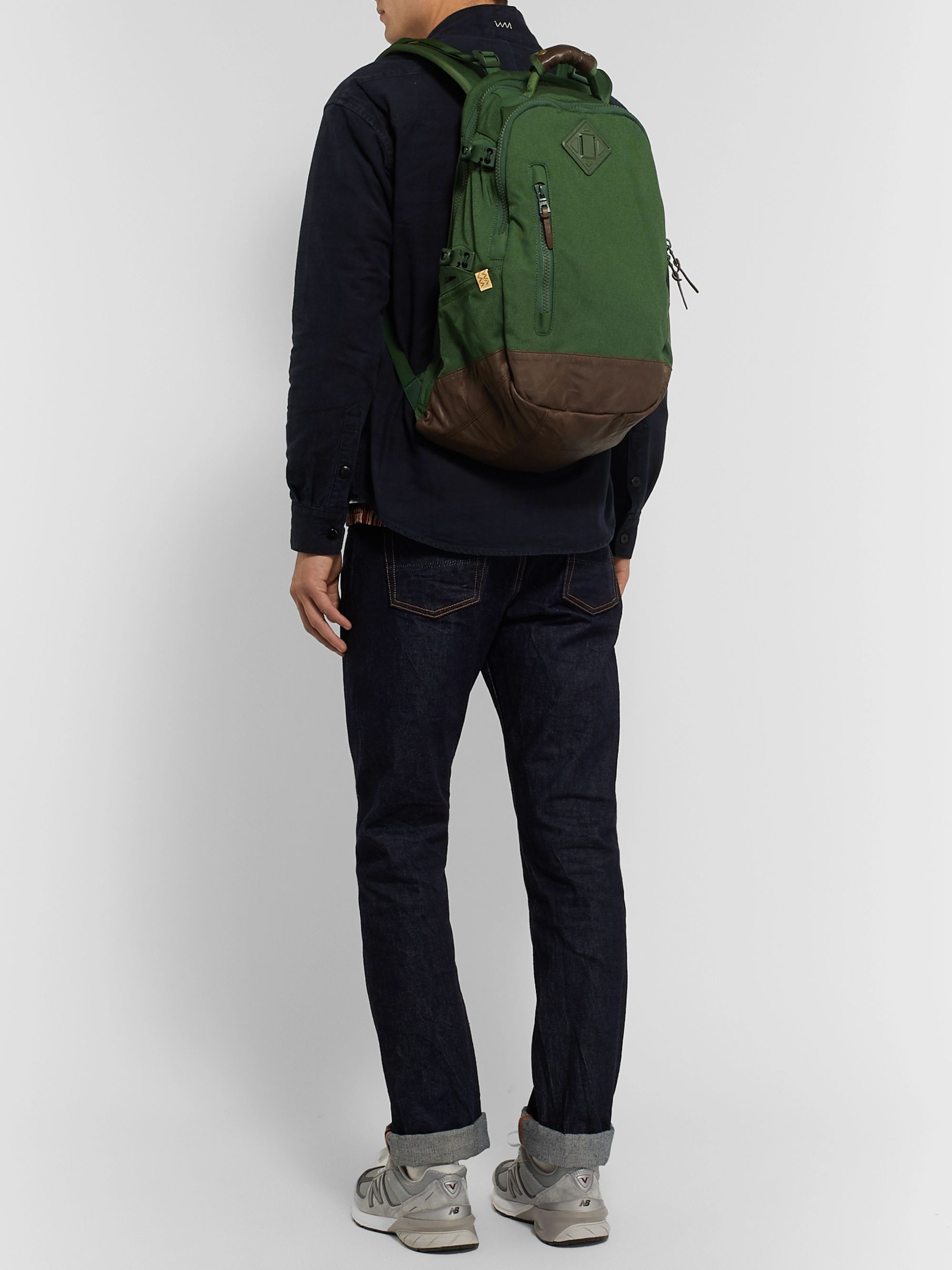 visvim CORDURA and Faux Leather Backpack