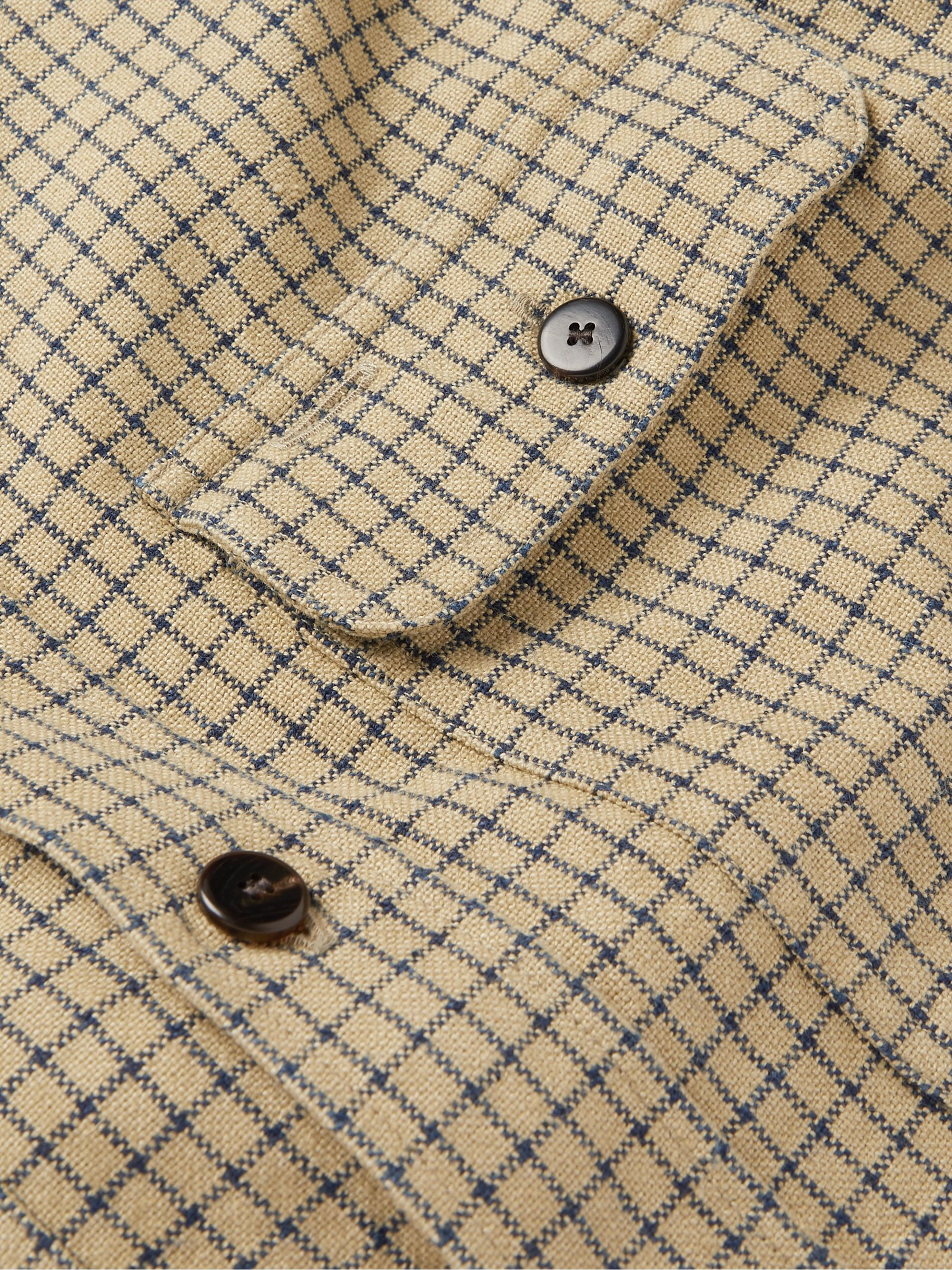 visvim Handyman Checked Cotton and Linen-Blend Shirt