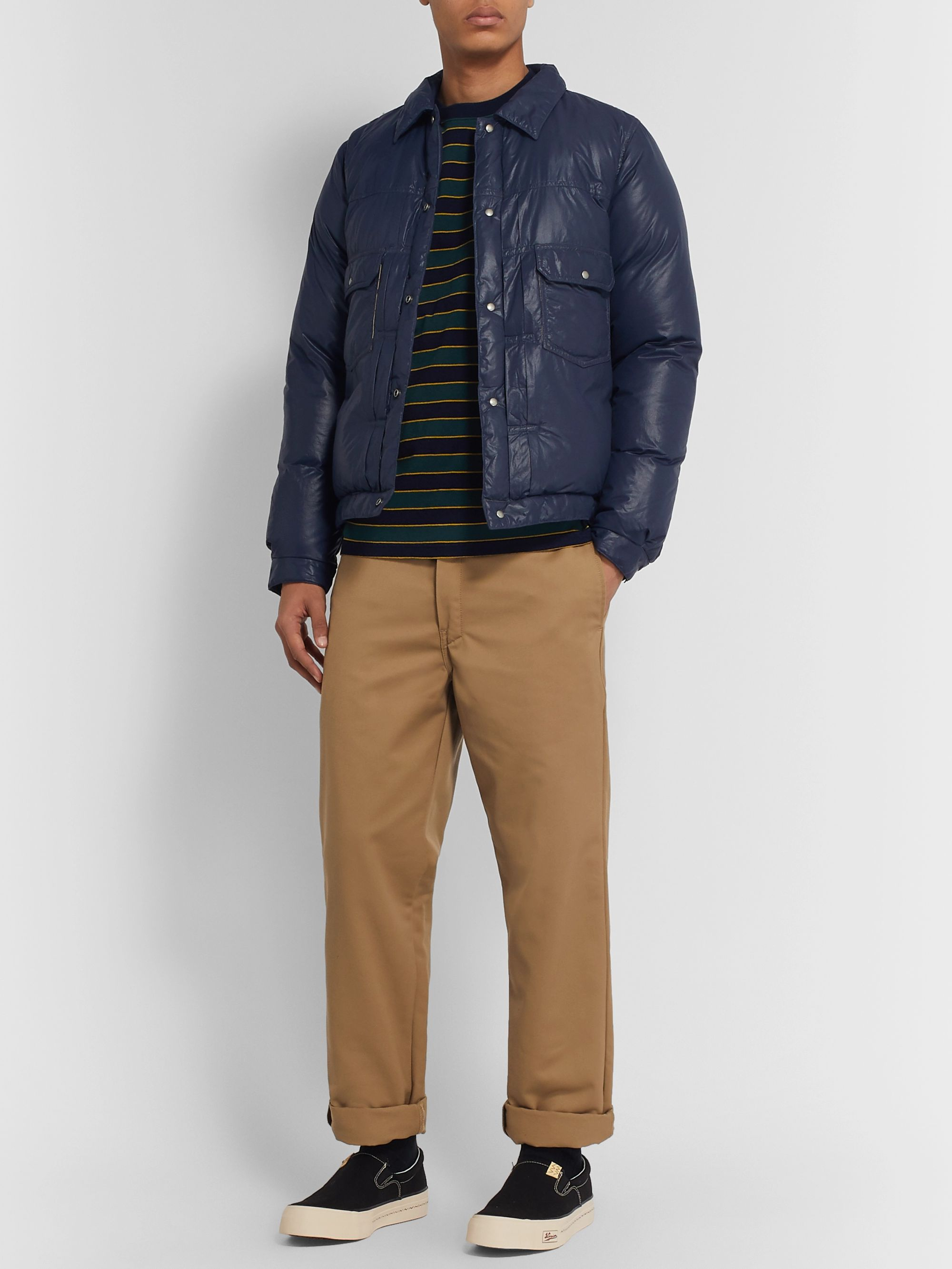 visvim Quilted Nylon-Shell Down Jacket