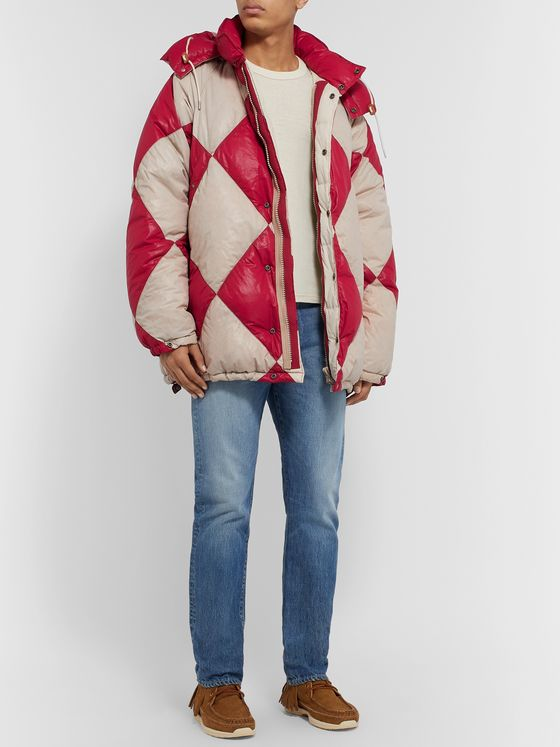 visvim Kodiak Diamond Quilted Shell Hooded Down Jacket