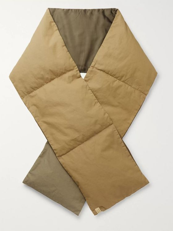 visvim Quilted Canvas Down Scarf