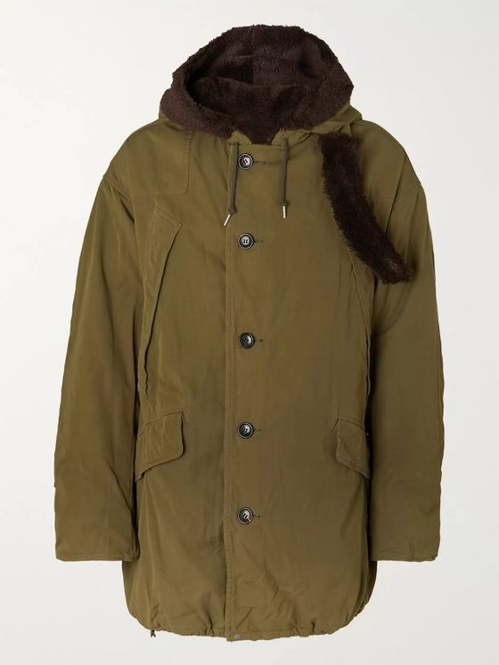 visvim Wright Fleece-Trimmed Padded Cotton-Blend Parka