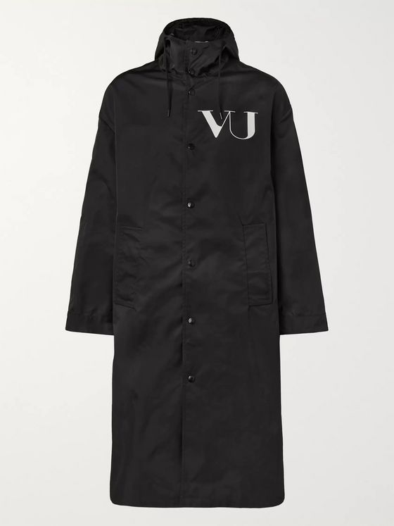 Valentino + Undercover Printed Shell Raincoat