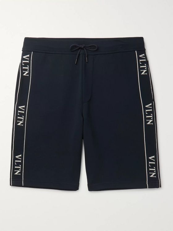 Valentino Logo-Jacquard Stretch-Knit Shorts