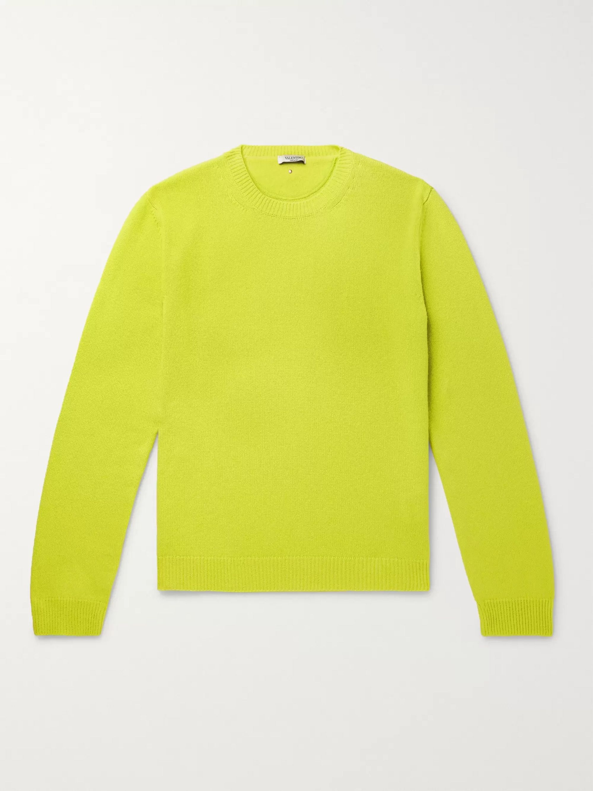 Neon Cashmere Sweater by Valentino