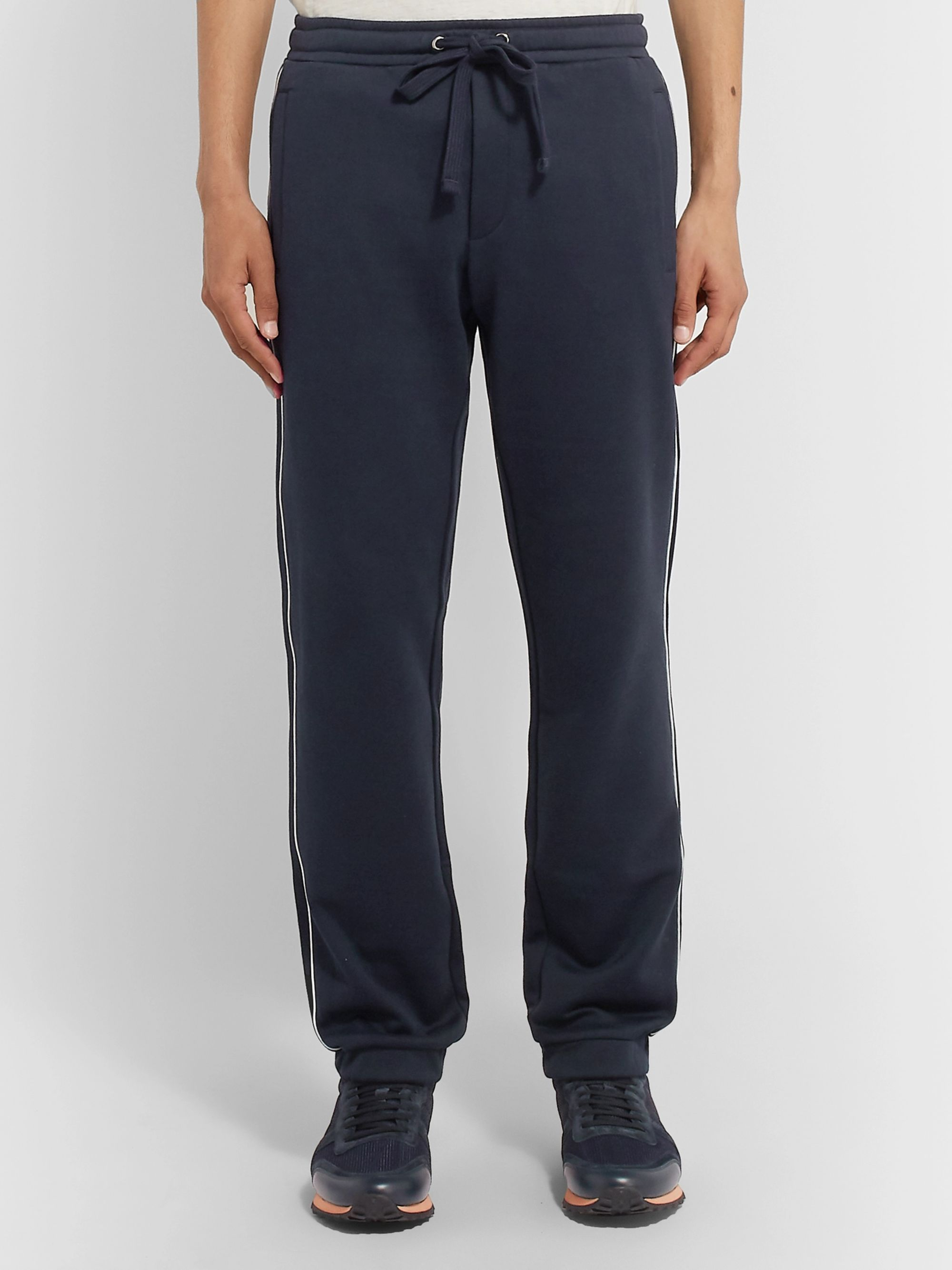 Valentino Logo-Print Loopback Cotton-Blend Jersey Sweatpants