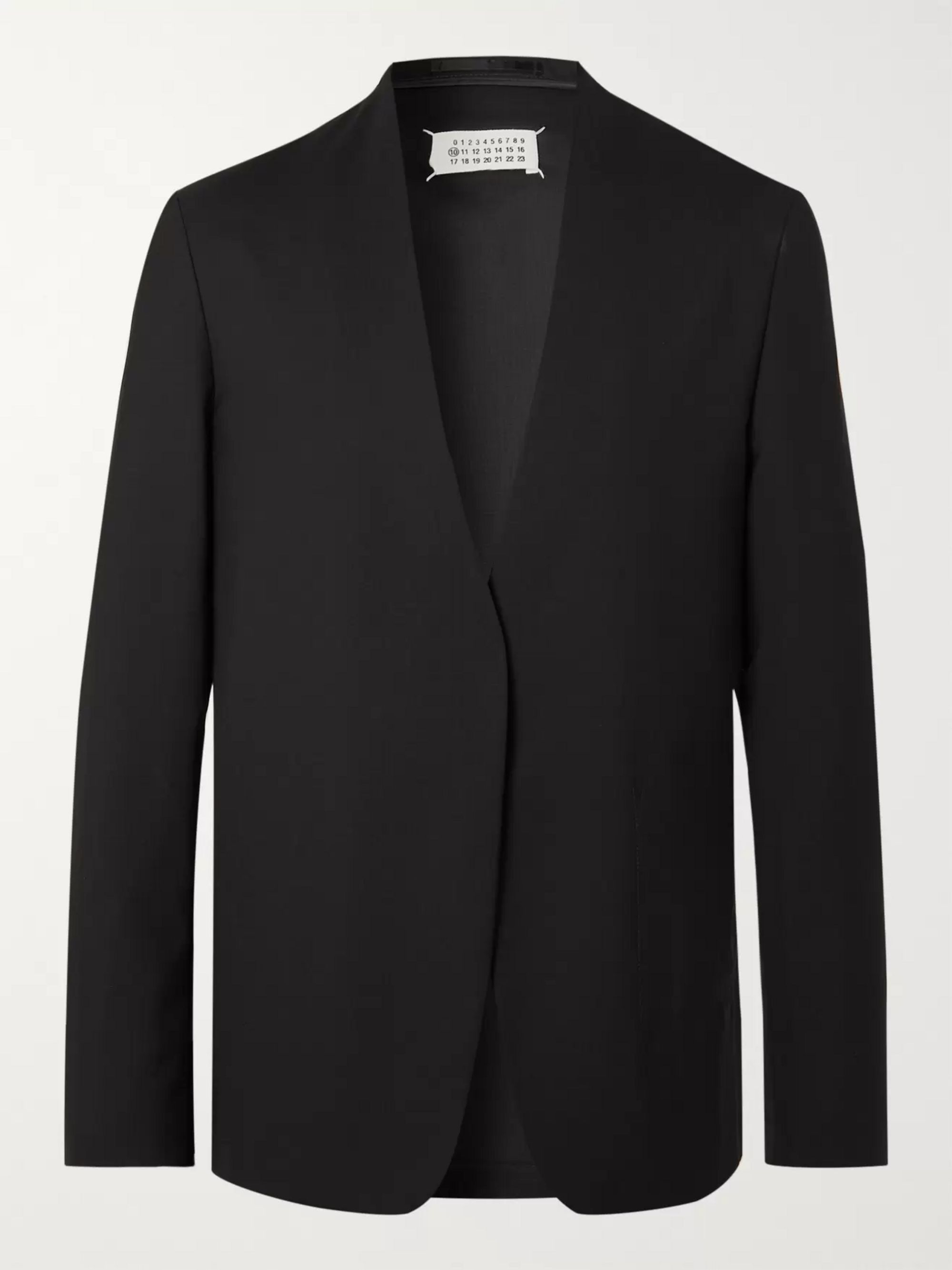 Maison Margiela Black Unstructured Wool Blazer