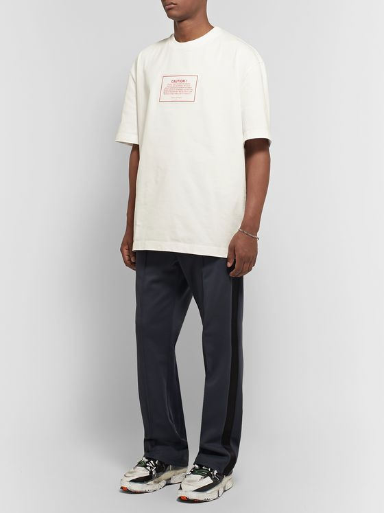 Maison Margiela Oversized Appliquéd Cotton-Jersey T-Shirt