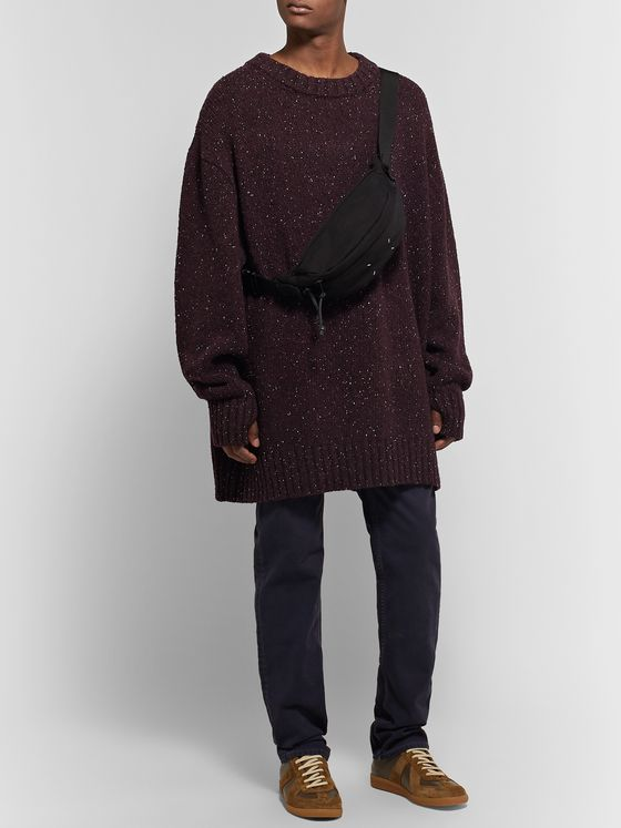 Maison Margiela Oversized Donegal Wool-Blend Sweater