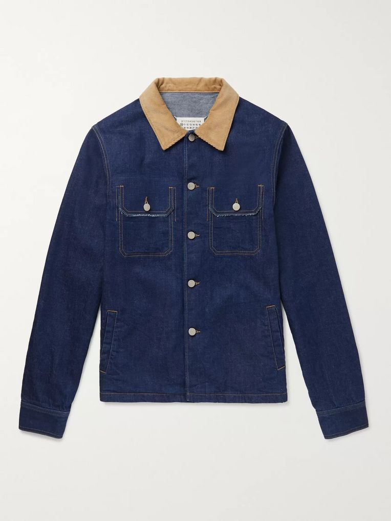 Maison Margiela Distressed Denim Trucker Jacket
