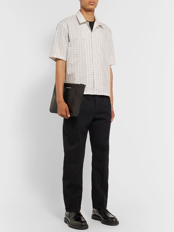 Maison Margiela Camp-Collar Printed Cotton Shirt