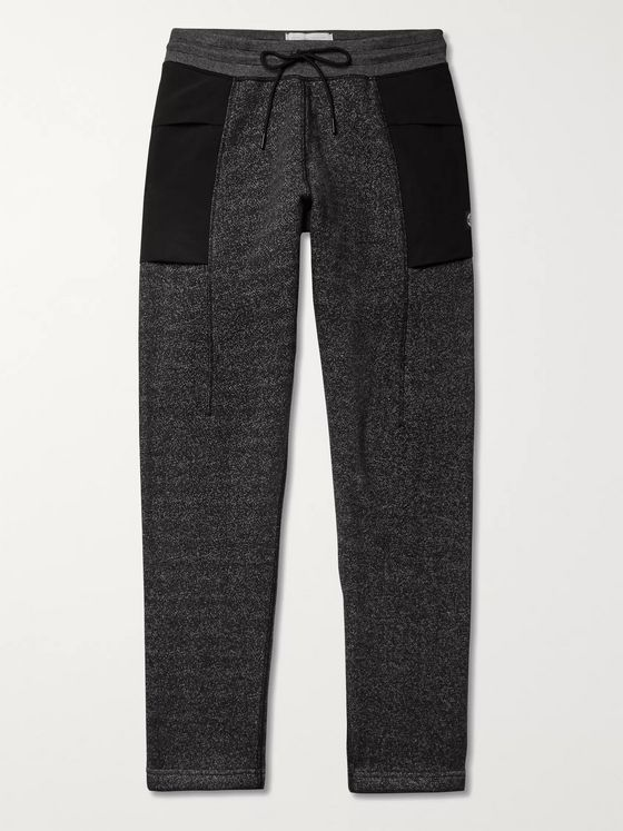 Reigning Champ Panelled Fleece-Back Cotton-Blend Jersey Sweatpants