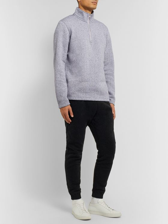 Reigning Champ Tiger Fleece-Back Cotton-Blend Jersey Half-Zip Sweater